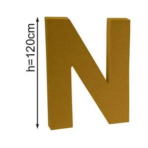Lettre 3D geante N 120cm