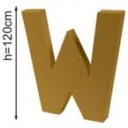 Lettre 3D geante W 120cm