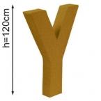 Lettre 3D geante Y 120cm