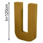 Lettre 3D geante U 120cm