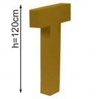 Lettre 3D geante T 120cm
