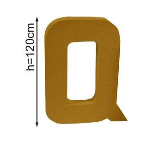 Lettre 3D geante Q 120cm