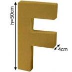 Lettre 3D géante F