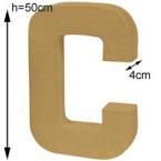 Lettre 3D Géante C 50cm