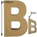 Lettre 3D géante B 50cm