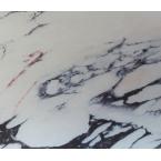 Décopatch 792 marbre noir blanc rose