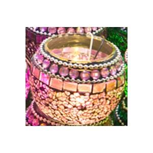 Kit mosaïques lanterne  tons rose