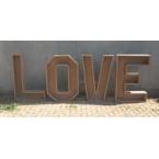 Lettres LOVE 120cm creuses pour mettre de fleurs