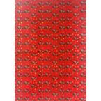 Décopatch Papier 821 rouge vert or