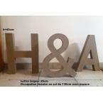 Lettres H&A 40cm hauteur