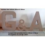 Lettres G&A 80cm hauteur