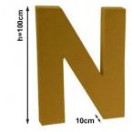 Lettre N 1 mètre de hauteur