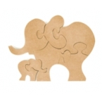 Support puzzle éléphants