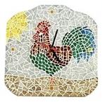 Kit mosaïque Horloge Coq