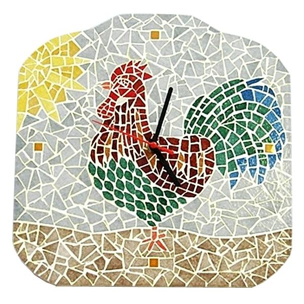 Kit mosaic artistico gallo orologio fai da te maison - Mosaico per esterno fai da te ...