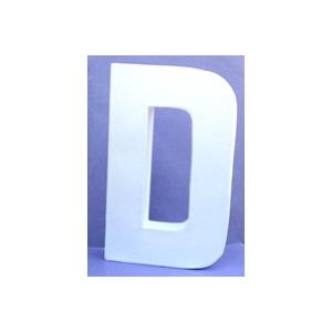 Lettre 3D D en carton 20cm