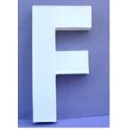 Lettre 3D-F en carton 20cm