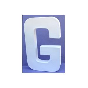 Lettre 3D-G en carton 20cm