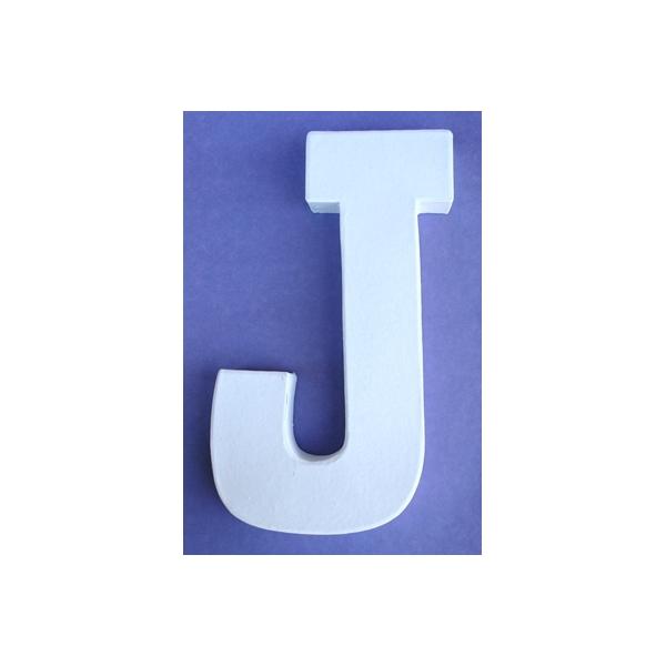 Lettre 3d j en carton 20cm maison pratic boutique pour - Pot en 3 lettres ...