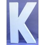 Lettre 3D-K en carton 20cm
