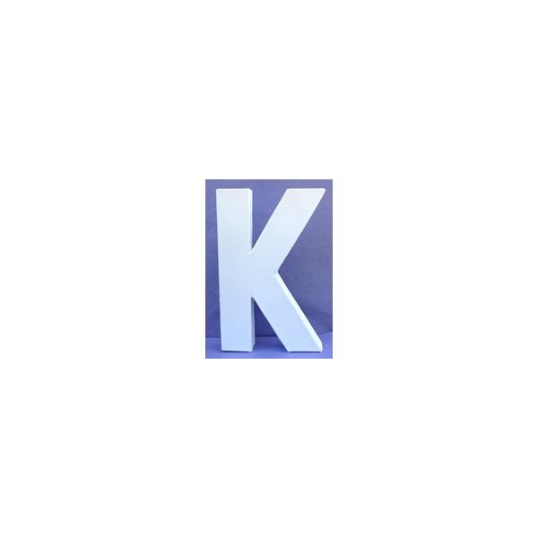 Lettre 3d k en carton 20cm maison pratic boutique pour vos loisirs creatifs et votre deco - Chiffre en carton 3d ...