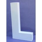 Lettre 3D-L en carton 20cm