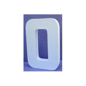 Lettre 3D-O en carton 20cm