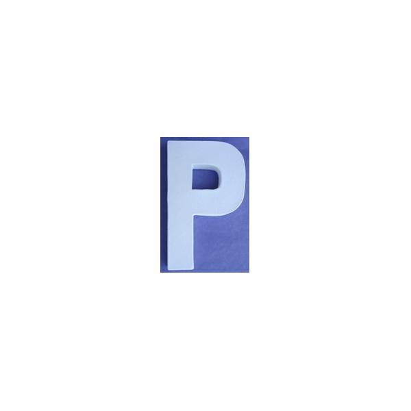 Lettre 3d p en carton 20cm maison pratic boutique pour - Chiffre en carton 3d ...