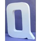 Lettre 3D-Q en carton 20cm
