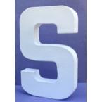 Lettre 3D-S en carton 20cm