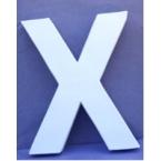 Lettre 3D-X en carton 20cm