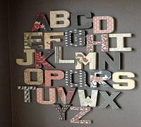 lettre deco abecedaire